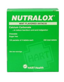 Nutralox antacid tablets 250 packet box - front view