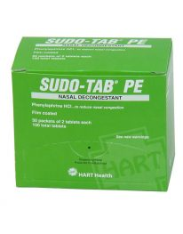 Sudo-Tab PE sinus decongestant - 50 packet box front view