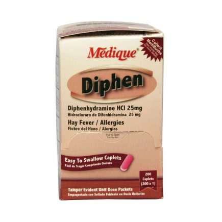 Diphen Hay Fever Allergy Relief caplets - 200 box front view