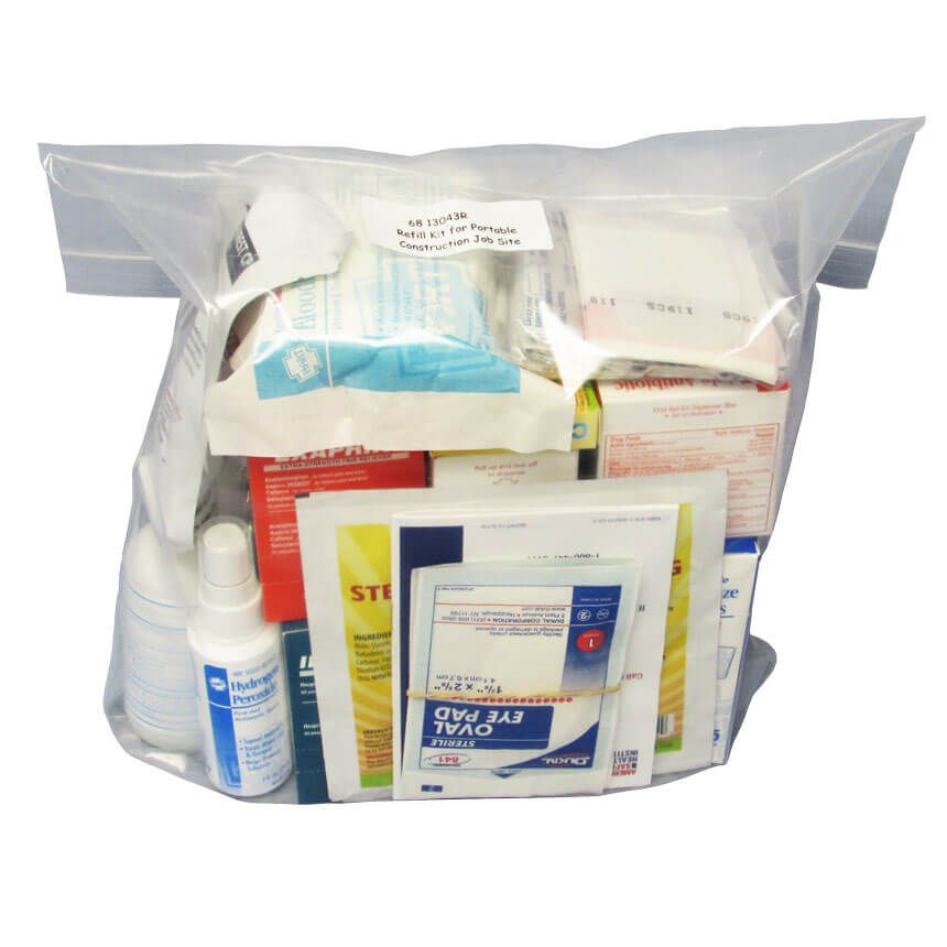 Refill kit for the Construction First Aid Kit - front view