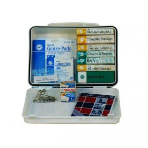 Cal OSHA Contractor 1-5 Person First Aid Kit - Opened View