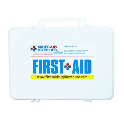 Thirty-Six Unit Plastic First Aid Kit - front view