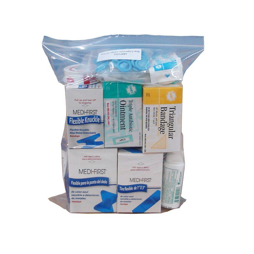 Economy Restaurant/Food Service First Aid Kit Refill - in bag view