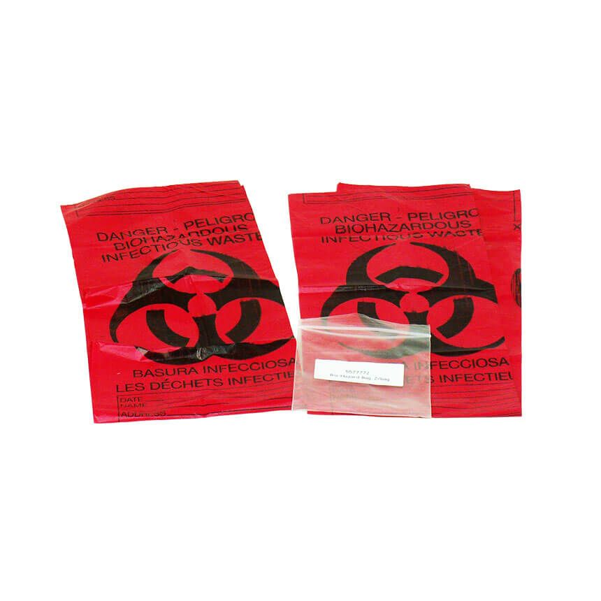 Red Biohazard Bags - 2/bags - display view